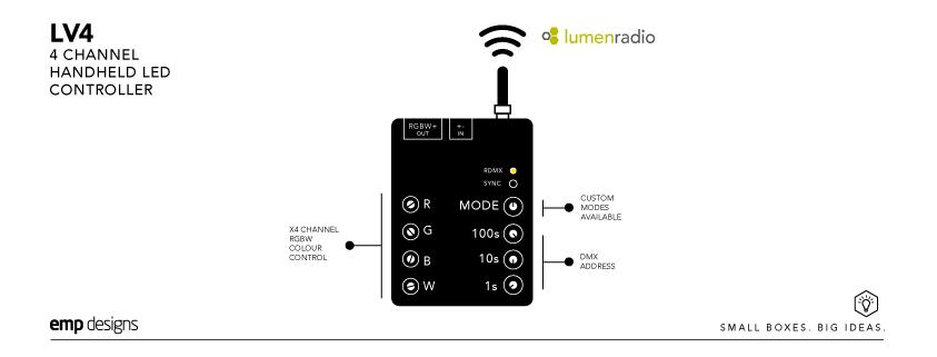 LV4-4Channel-handheld-LED Controller