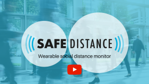 Link to YouTube video for Safe Distance social distance monitor by EMP Designs
