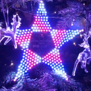 Bespoke LED Christmas light with patterns, just because!